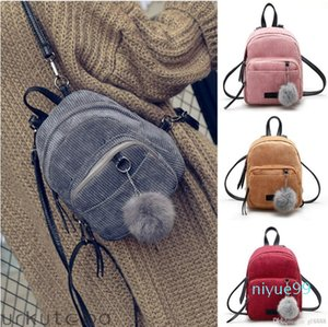 Women Mini Corduroy Backpack School Bags Travel Handbag Shoulder Bag Rucksack