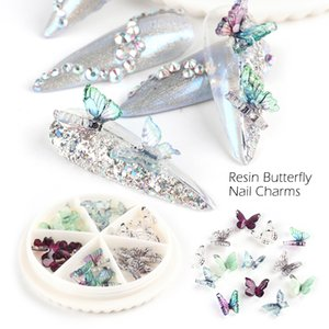 Perfections30 PCS Resin Butterflies Charm Nail Art Decoration 3D Small Wings Crystal Clear Gem Jewelry Design on Nails Accessory CH1817