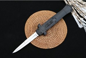 9 Inch Italian mafia EDC Tactical knife 440c Satin Single Blade Hiking Pocket knives FRN reinforced ABS outdoor side jump automatic 3300 A07 C07