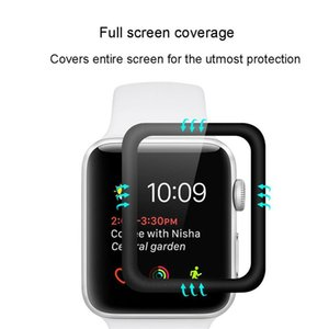 For Apple Watch 6 SE 40mm 44mm Films 3D Full Curved Tempered Glass Protectors Coverage iWatch Series 5 2 3 38mm 42mm Screen Film