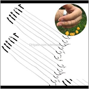 Hooks Sports & Outdoors Drop Delivery 2021 6Pcs Barbless Size 6 8 10 Carp Hook Tackle Hair Rigs Fishing Aessories Tackles Ewly2