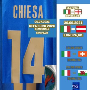 Home Textile 2021 EUR FINAL Match Worn Player Issue Bonucci Maillot Immobile Chiesa Jorginho Insigne Spinazzola With Finale MatchDetails Soccer Patch Badge