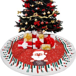 Xmas Floor Mat Party Decor Fashion Christmas Tree Skirt Chic Linen Carpet Cover for home LLD10621