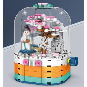 601077 Lightiing Japan Japanse Cherry Tree Sakura Model Kit Building Block Toy