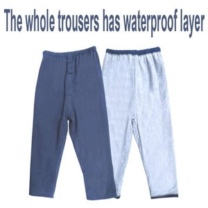 Cloth Diapers Adult Waterproof Diaper Pants Incontinence Care Trousers Breathable Washable Slacks Cotton Leak Proof Prevent Embarrassed Tuck