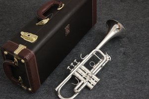 Professional Bach AB-190S Brass Bb Trumpet High Quality Silver Plated Trompette Musical Instruments With Case Accessories
