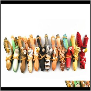 Slingss Cute Wooden Hunting Slings Animal Giraffe Tiger Wolf Dog Shape Sling S Toys For Outdoor Catapult Xy8Wc 9Pdng