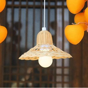 Lamp Covers & Shades Vintage Handmade Rattan Lampshade Po Prop Accessories Kids Room Nursery Dorm Decoration Ceiling Light Cover Home Decor