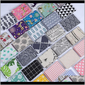 Textiles Home Garden Drop Delivery 2021 Cotton And Linen Tea Towel Leaf Printing Table Napkin Water Uptake Dinner Cloth Many Styles 4 5Sd C 7