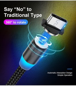 Manyetik Telefon Kabloları 2.4A Naylon Hızlı Şarj Kablosu 3 1 Tipi C Mikro USB Veri Sync Samsung Huawei Xiaomi Samrtphones