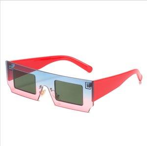 Vintage Rectangle Clear Shades pour Femme 2021 Square Sunglasses Fashion Brand Petite Plat Top Sun Lunettes Femme UV400 Unisexe