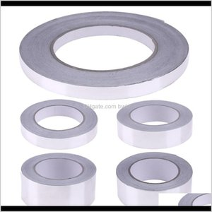 Tapes Packing Office School Business & Industrial40M Single Side Adhesive Heat Resist Waterproof For Pipe 10 20 30 40 50Mm Aluminum Foil Tape