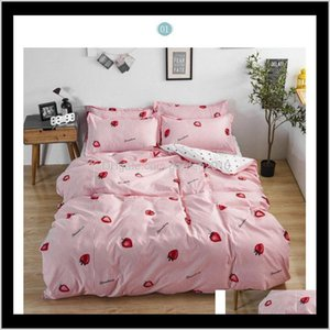 Sets Four Seasons Home Bedroom Set Comforter Bedding Light Luxury Duvet Cover Bed Sheet Pillowcase Fashion Xm5Ru Zqtrx