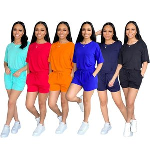 Sport Suit T Shirt And Shorts Sets Women Summer Two Piece Set Casual Home Pajamas Femal Matching Women's Tracksuits
