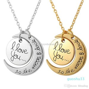 Accessories You Necklace New Love Moon To The Children Moon Back Pendant 2021 Jewelry Charm I For Women Gift And Fashion C3751 Qovgu