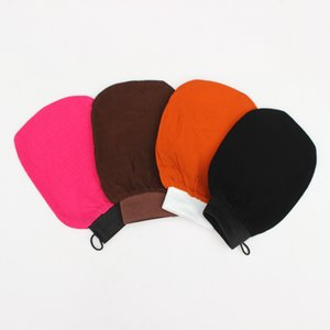 Scrubbing Exfoliating Gloves morocco bath towel hammam scrub mitt magic peeling glove tan removal mitt(normal coarse feeling) 24FF B3ZF