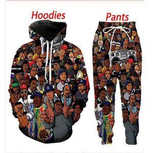 Новая мода 90-х годов старая школа 3D печать хип хоп толстовки длинные мужчины женщины одежда пуловер с капюшоном костюмы (1pac) wf033