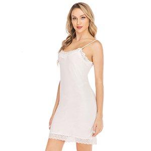 Sexy Lace Women's Nightie Modal Cotton Summer Home Mini Slip Sleeping Dress Women Sleepwear Plus Size Nightwear Nightgown Ladies