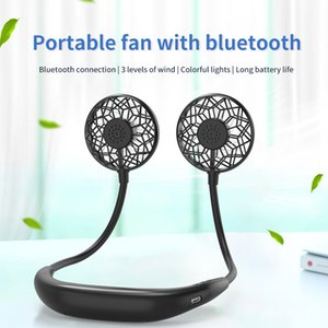 Portable hanging neck bluetooth fan with USB charging Gadgets
