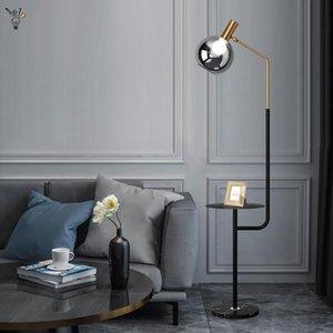 Floor Lamps Marble Shelf Light Ins Corner Stand Lights Coffee Table Led Lamp Bedside Living Room Decor Fixtures
