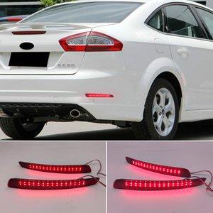 2PCS For Ford Mondeo Fusion 4 2011 2012 2013 LED Rear Bumper Reflector Brake Light Car Styling Tail Light Warning Light