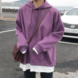 Spring Autumn 2 In 1 Women Hoodies Zipper Long Sleeve Loose Candy Hooded Sweatshirt Tops Korean Style Crop Top Woman 2021 Women's & Sweatshi