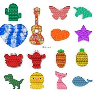 EE. UU. Niños Push Bubble Sensory Juguete para autismo Necesidades especiales Autismo Autismo River Squishy Relevador Anheler Toys Toys Anti-Stress Fidget Juguetes