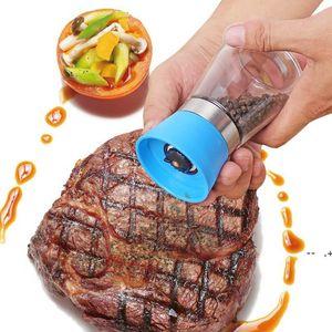 Pepper Grinder Mill Glass Round Bottle Salt Herb Spice Hand Manual Pepper Mill Cooking BBQ Seasoning Mills Kitchen Tools GWE9369