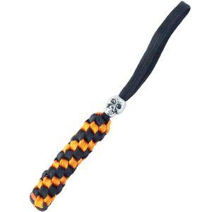 Qinggear يدويا التكتيكية سكين الحبل المفاتيح أداة سستة تسحب مع الجمجمة حبة مربع جديلة في الهواء الطلق