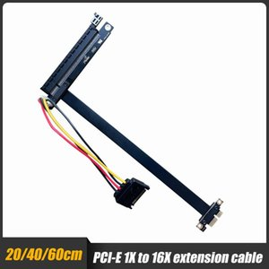 Computer Cables & Connectors PCI-E 1x To 16x Right Angle Extension Cable Riser Card X1 X16 GPU For Mining 20cm