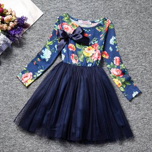 Spring Autumn Long Sleeves Children Girl Clothes Casual School Dress for Girls mini Tutu Dress Kids Girl Party Wear Clothing 946 V2