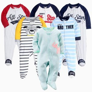 2021 Baby Girl sleepsuits Infant born long sleeve Rompers Footies Boys sleep pajamas 0-12 month Cartoon Outfit baby clothes
