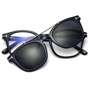 Солнцезащитные очки квадратный ацетат женщины анти-голубые лучевые очки кадр мужчины магнитный поляризованный клип оптическое зрелище