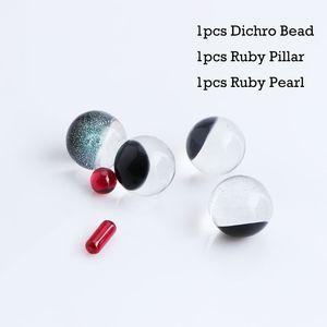 Smoking Accessories Set Including Dichro Beads Ruby Pillar And Pearls Suitfor Terp Slurper Quartz Banger Nails
