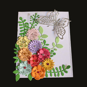 Painting Supplies 9Pcs 3D Flower Metal Cutting Dies Tencils For DIY Troqueles De Corte Scrapbooking Decor Embossing Cards 2021