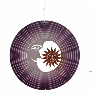 Wind Spinner Stainless Steel Metal Wind Spinners Hanging Garden Decoration for Indoor Outdoor Garden Ornaments Creative sea ship HWA4613