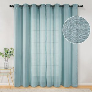 Curtain & Drapes Solid Bedroom Curtains For Living Room Window Kitchen Modern Treatments Voile Custom Made