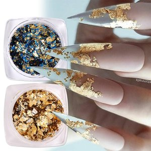 Nail Glitter Aluminum Foil Sequins For Nails Gold Silver Irregular Flakes Mirror Chrome Powder Manicures Winter Decorations Tools
