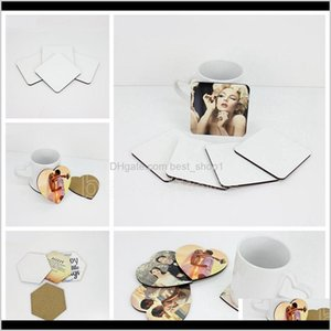 Mats Pads Table Decoration Accessories Kitchen Dining Bar Home Garden Drop Delivery 2021 Diy Sublimation Blank Coaster Wooden Cork Pad Mdf Pr