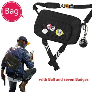 Watch Dogs 2 Costume A Bag Marcus Holloway Cosplay Accessories Bags A Bag of Mark Game for Halloween Party Outfit Free Badge