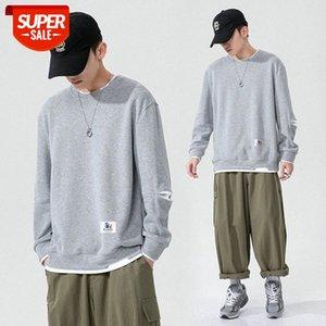 Long-sleeved round neck bottoming T-shirt men's Korean fashion sweater #0i6l