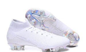 Mercurial 7 Elite FG Futbol Nuovo Beyaz Paketi Superfly VII Yeni Futbol Kelepçeleri Gemi ile Kutusu Büyük Boys