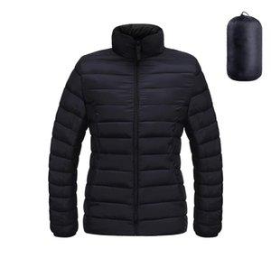 TiskQiqi Женский Пакетный Пуховик Ultra Легкая Сверхустойкая Куртка Верхняя одежда Full-Zip Parka Короткое пальто
