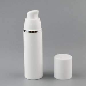 15 30 50ML Empty refillable white high-grade airless vacuum pump bottle Plastic cream lotion Container Tube Travel Size 1340 V2