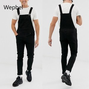 Wepple модный мужской ремешок джинсовые розыгрыши плюс размер разорванные джинсы брюки промытые повседневные черные карандаш джинсовые брюки