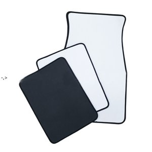 White Sublimation Blanks Carpets Anti Slip Neoprene Car Floor Mat Soft Protector Foot Front Universal Fit Most Auto Cars Trucks BWE9978