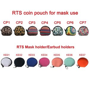 Neoprene mask bags earphone bag storage bag outdoor travel mobile phone charging cable earphone storage bag sea ship NHE5956
