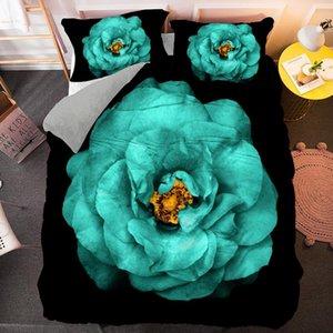 Bedding Sets Drop Dandelion Sunflower Set Plant Duvet Quilt Cover With Pillowcase Single Double Queen King Size Bedclothes