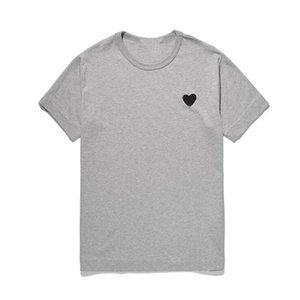 T-shirts Hommes Coton Casual Broderie Simple / Double amour-Coeur Tshirt Tshirt Mode Tenue d'été pour homme Femmes Couple (avoir des yeux)