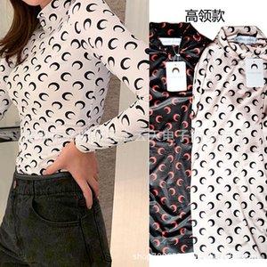 Fashion Star Brand Mari#ne Se * Rre Moon Long Sleeve T-shirt Thin Blouse Ice Silk Sunscreen Top